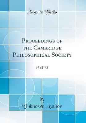 Proceedings of the Cambridge Philosophical Society by Unknown Author
