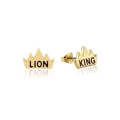 Couture Kingdom: Disney The Lion King Crown Stud Earrings - Yellow Gold