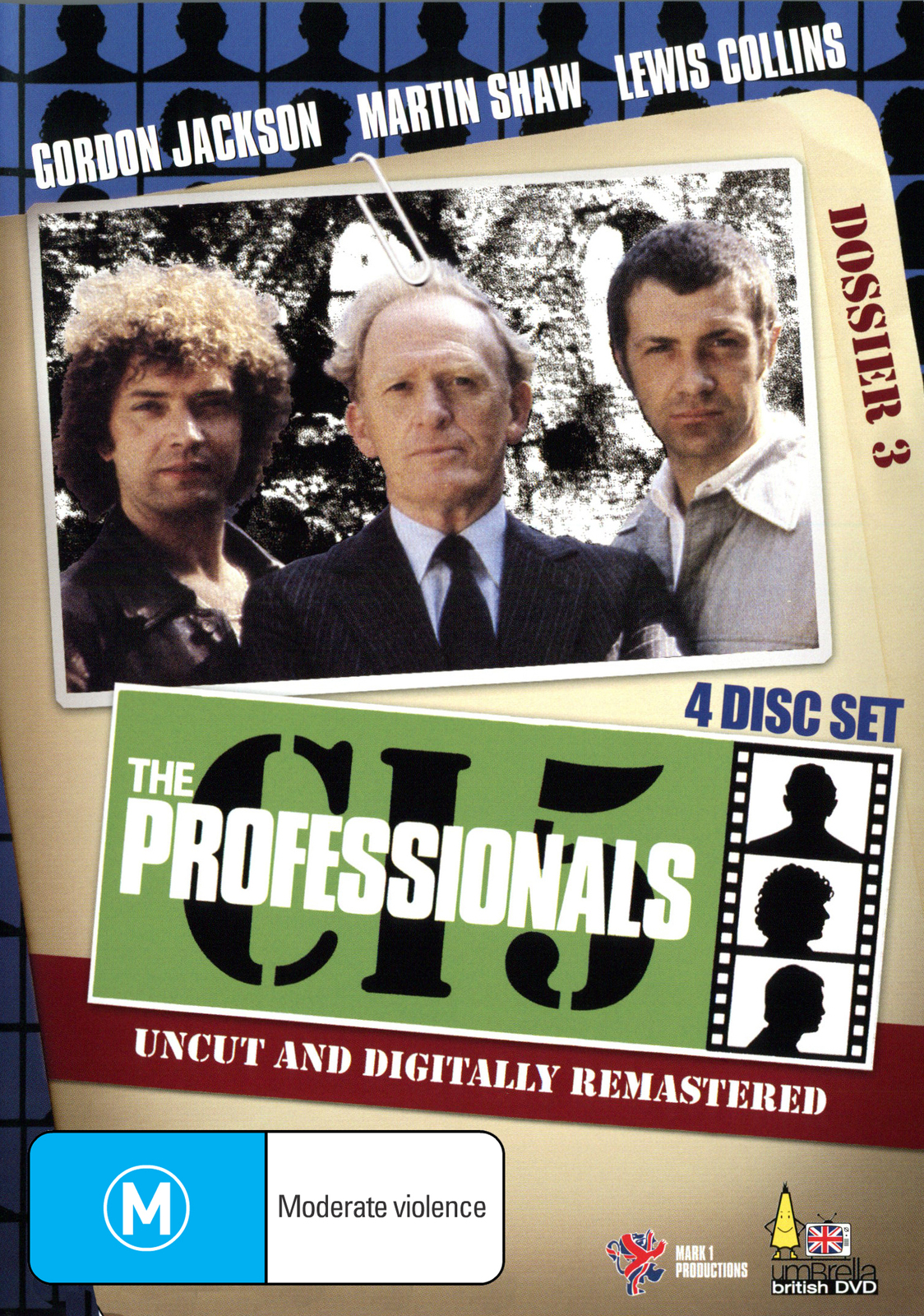 The Professionals - Dossier 3 (4 Disc Box Set) on DVD image
