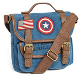 Loungefly Marvel Captain America Canvas Crossbody Bag