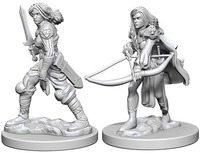 Pathfinder Deep Cuts: Unpainted Miniature Figures - Human Female Fighter