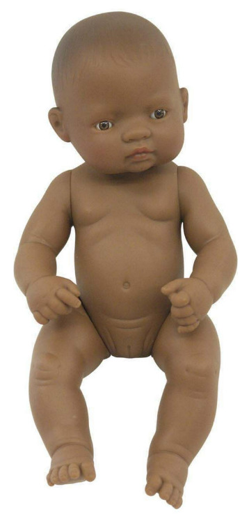 Miniland: Anatomically Correct Baby Doll - Latin American Girl (32cm)
