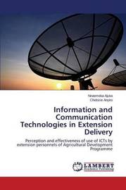 Information and Communication Technologies in Extension Delivery by Ajuka Nnaemeka