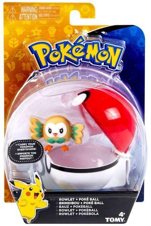 Pokémon: Rowlet & Poke Ball - Clip n Carry Set