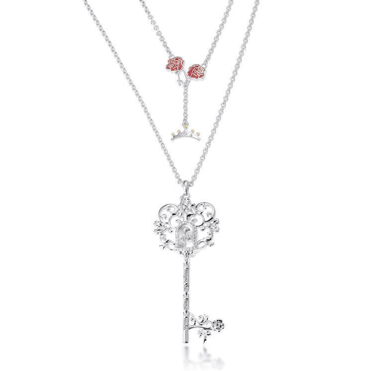 Couture Kingdom: Disney - Princess Belle Necklace (White Gold) image