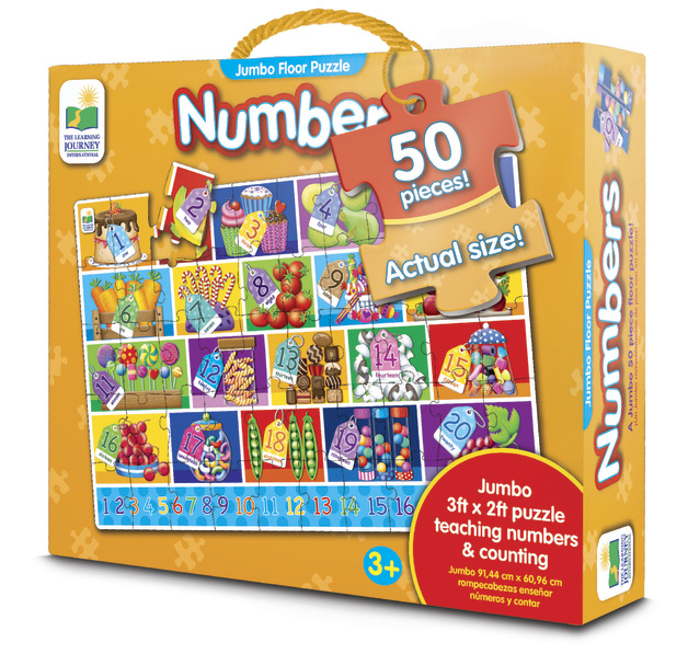 The Learning Journey: Jumbo Floor Puzzle - Numbers