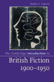 Cambridge Introductions to Literature by Robert L. Caserio image