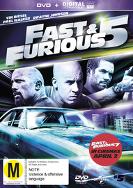 Fast And Furious 5 on DVD