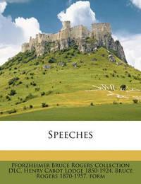 Speeches by Pforzheimer Bruce Rogers Collection DLC