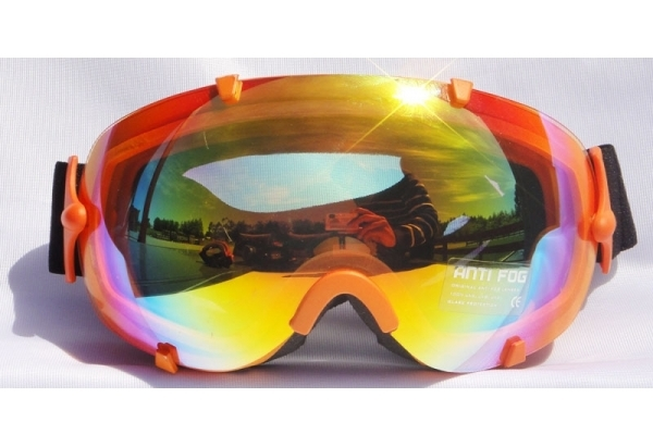 Mountain Wear Adult Mirrored Goggles: Orange (G2022)