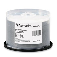 Verbatim BD-R 25GB White Wide Inkjet 6x (50 Pack) image