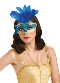 Rubie's: Blue Feather - Carnival Mask