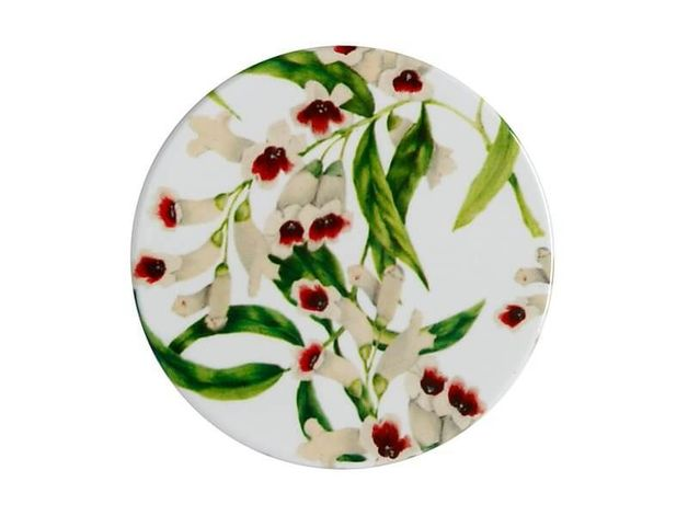 Maxwell & Williams: Royal Botanic Gardens Euphemia Henderson Ceramic Round Coaster - Pink Heath (9.5cm)