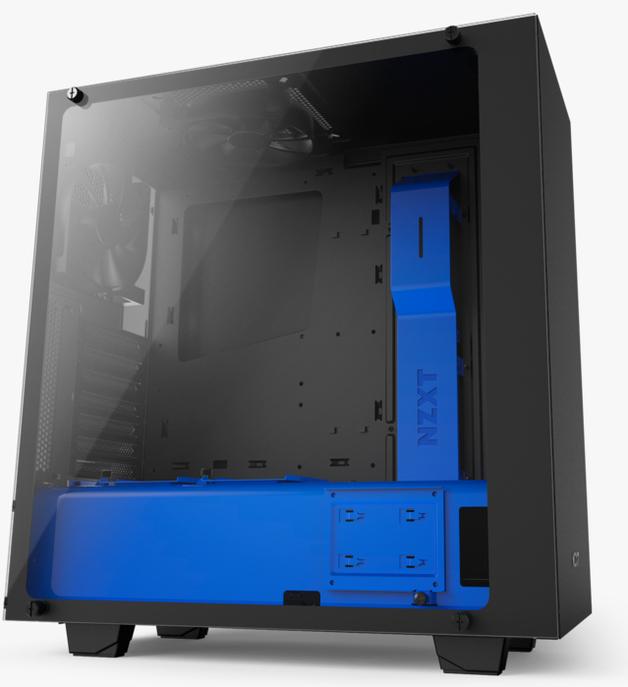 NZXT S340 Elite Mid Tower - Black/Blue