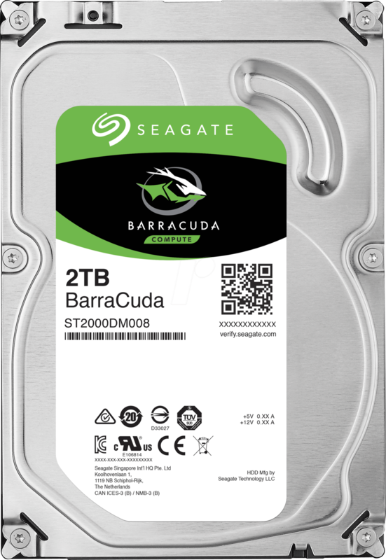 "2TB Seagate BarraCuda 3.5"" 7200RPM SATA HDD"