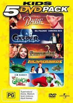 Kids 5 DVD Pack (Babe / Casper / Peter Pan / Thunderbirds / Grinch) (5 Disc Set) on DVD