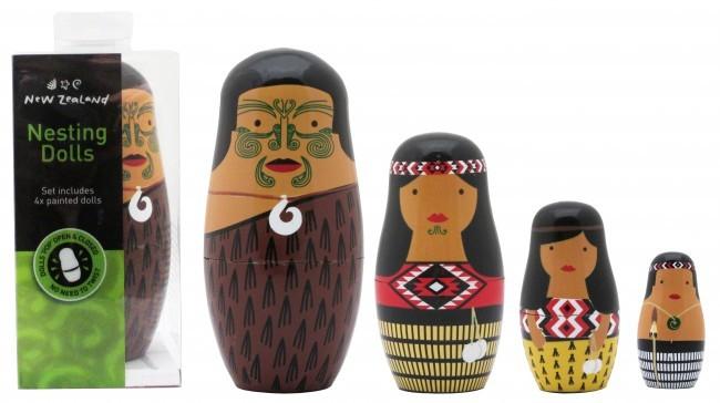 NZ Gift: Maori Whanau - Nesting Doll Set image