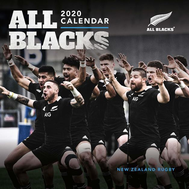 All Blacks 2020 Square Wall Calendar