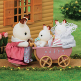 Sylvanian Families: Chocolate Rabbit Twin Babies Set