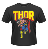 Marvel 'Thor Leap' Mens T-Shirt - Black (Large)