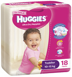 Huggies Ultra Dry Nappies - Toddler Girl 10-15kg (18)
