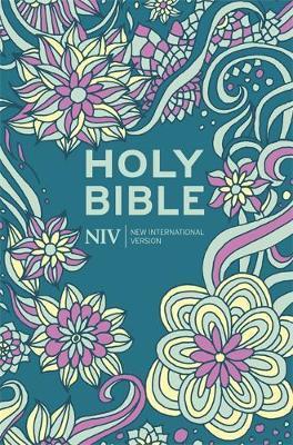 NIV Pocket Floral Hardback Bible by New International Version image