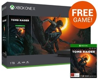 Xbox One X 1TB Shadow of the Tomb Raider Console Bundle for Xbox One