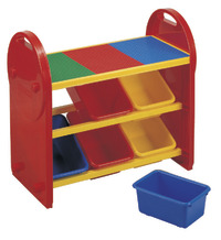Colourful Brick Shelf - 6-Bin Organiser
