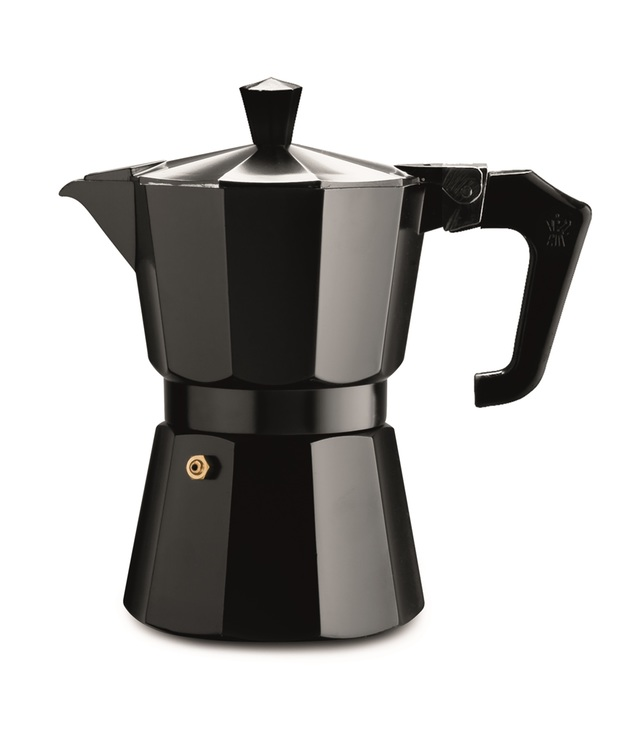 Pezzetti: Italexpress Aluminium Coffee Maker - Black (1 Cup)