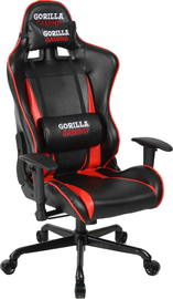 Gorilla Gaming Commander Chair - Red & Black for  image