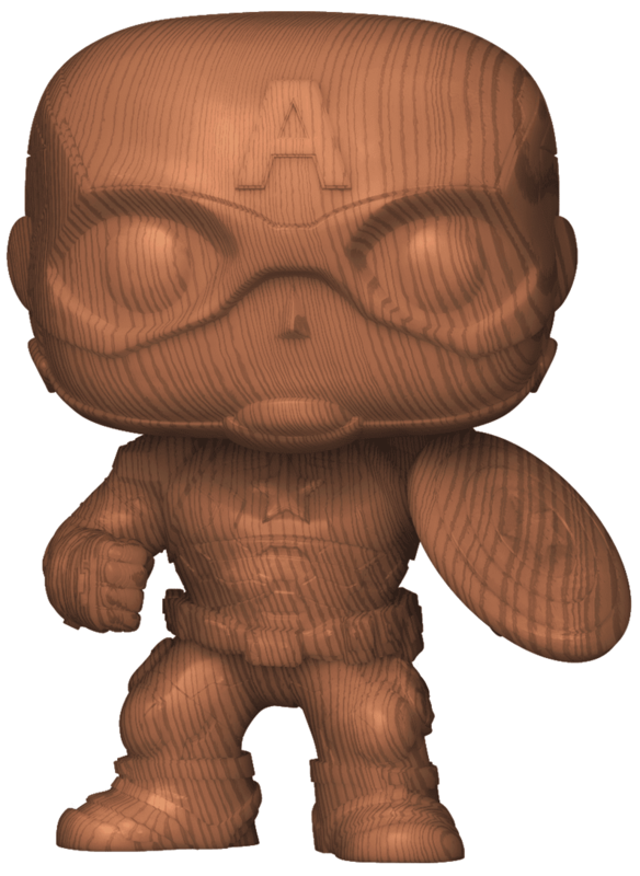 Captain America (Wood Deco Ver.) - Pop! Vinyl Figure