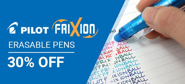 30% off Pilot Frixion!