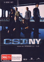 CSI - NY: Season 1 - Episodes 1.1-1.12 (3 Disc Box Set)  on DVD