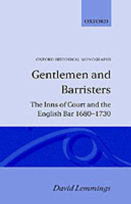 Gentlemen and Barristers by David Lemmings