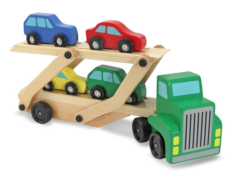 Melissa & Doug: Wooden Car Carrier Truck image