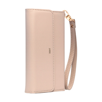 3SIXT NeoClutch Premium Case for iPhone 8 Plus/7 Plus/6S Plus - Blush Tan/Grey