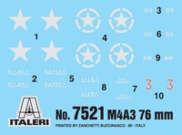 Italeri: 1/72 M4 A3 76mm - Fast Assembly Kit image