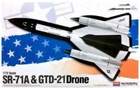 Academy SR-71A & GTD-21 Drone USAF 1/72 Model Kit