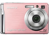 Sony DSCW80P 7.2MP Digital Camera - Pink