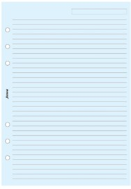 Filofax - A5 Lined Notepaper - Blue (25 Sheets)