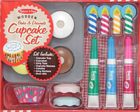 Melissa & Doug: Bake & Decorate Wooden Cupcake Set