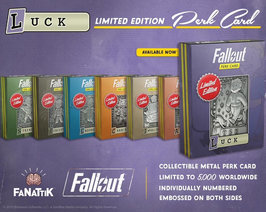 Fallout: Replica Perk Card - Luck image