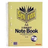 Spirax 599 3 Subject Notebook A4