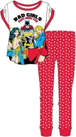 Justice League: Bad Girls Have More Fun Womens Pyjama Set (12-14) image