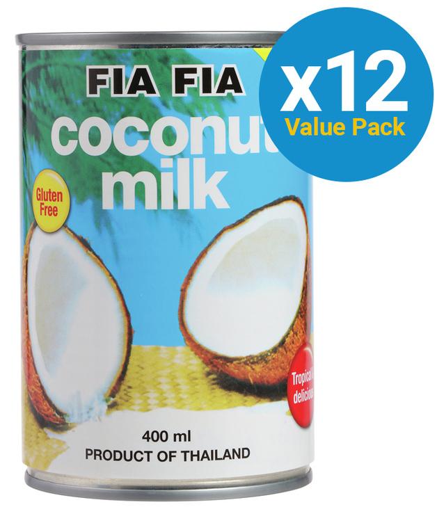 Fia Fia Coconut Milk 400ml x 12