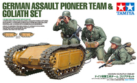 Tamiya 1/35 German Assault Pioneer Team - w/Goliath Set Scale Model Kit