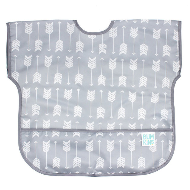 Bumkins: Waterproof Junior Bib - Grey Arrow