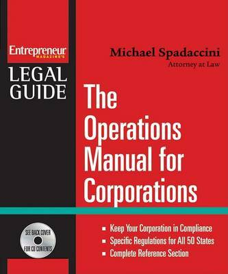 The Operations Manual for Corporations by Michael Spadaccini image