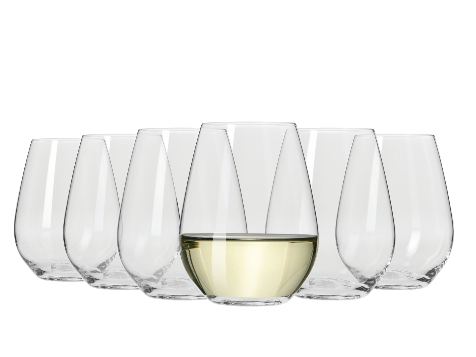 Krosno Vinoteca Stemless White Wine - Set of 6 400ml