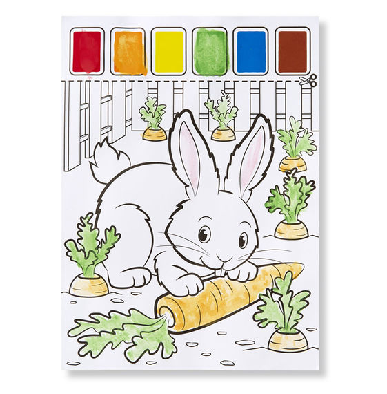 Melissa & Doug: Farm Animals Paint With Water Kids' Art Pad image